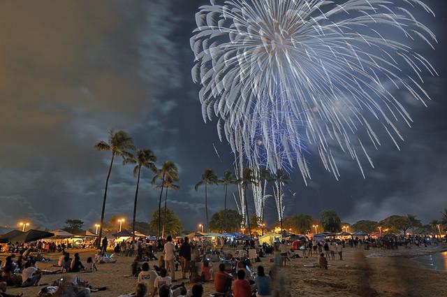 Fireworks over Ala Moana