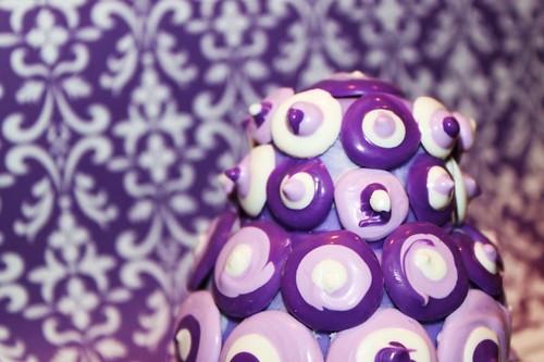 retro purple cake closeup | by MiraUncutBlog