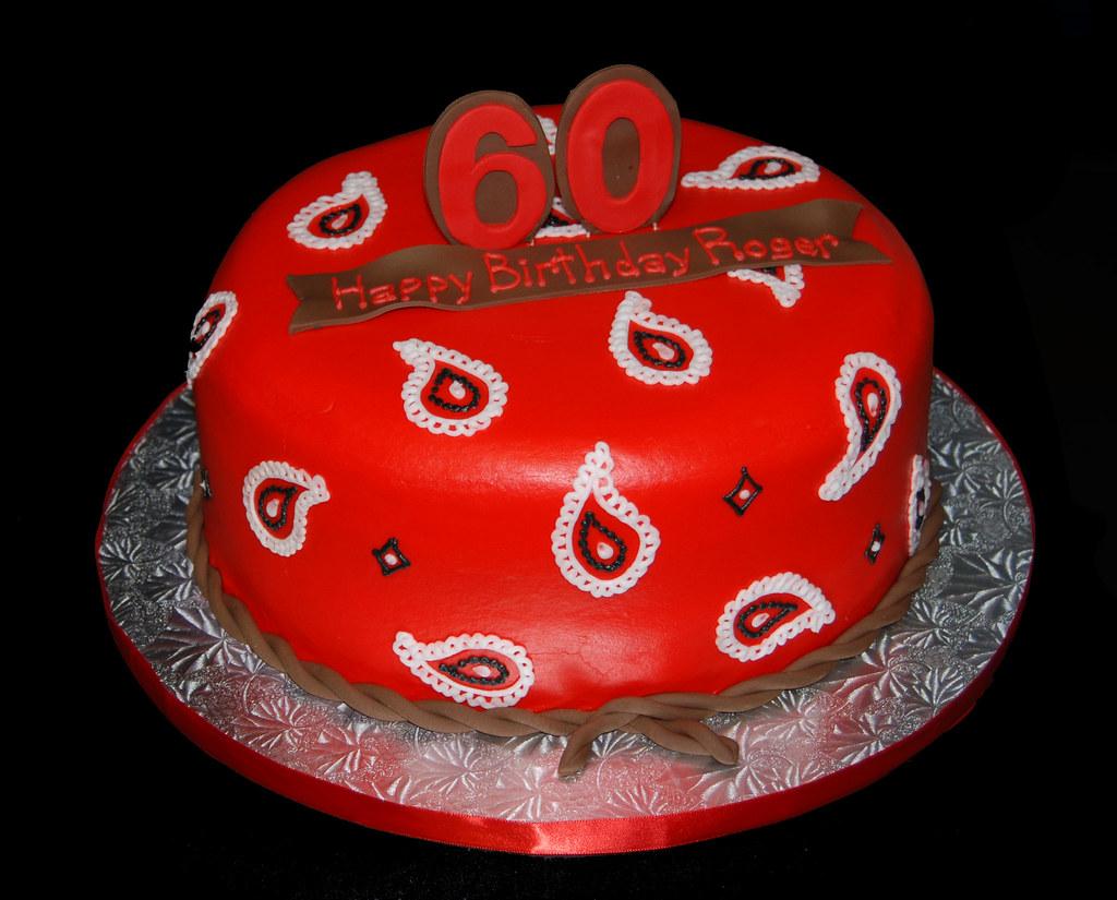 Fabulous Bandana Print Western Themed 60Th Birthday Cake Read More Flickr Funny Birthday Cards Online Alyptdamsfinfo