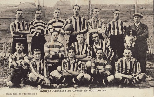 Gloucester - 14 men + 1 dog touring to France 1911 | by Frederic Humbert (www.rugby-pioneers.com)