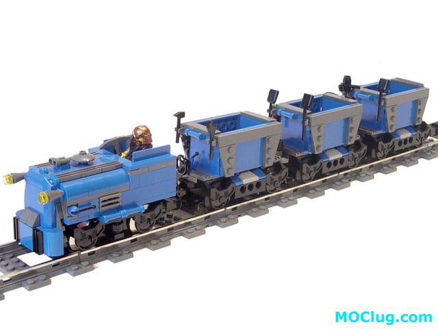 LEGO MOC - Dwarf Mining Train - Side   Dwarf Mining Train MO