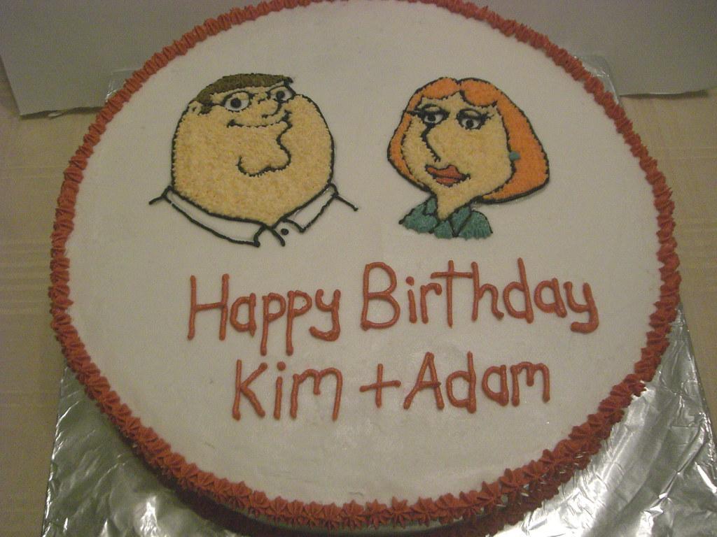 Terrific Family Guy Birthday Cake Jackie Seigle Flickr Funny Birthday Cards Online Alyptdamsfinfo