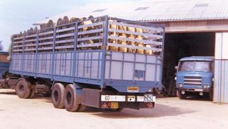 Le transport des tourets Mouret par les Transports Girod