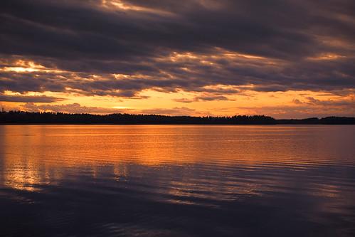sunset sky orange lake canon 5d lappeenranta saimaa sigma50mmf14exdghsm