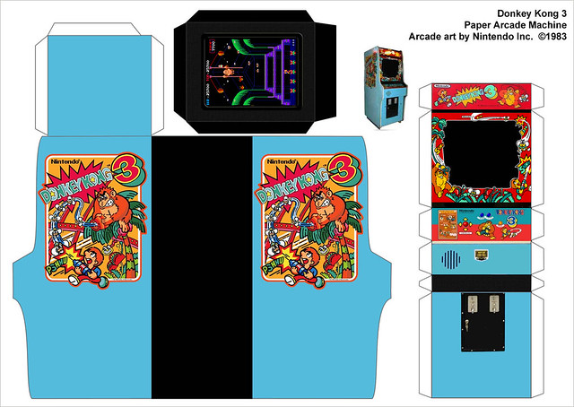 Donkey Kong 3 paper arcade machine