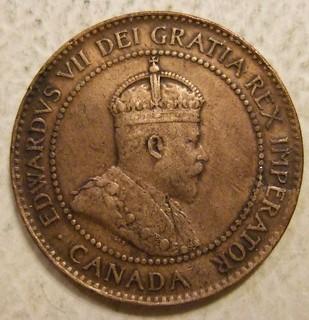 CANADA, EDWARD VII, 1902 ---ONE CENT b