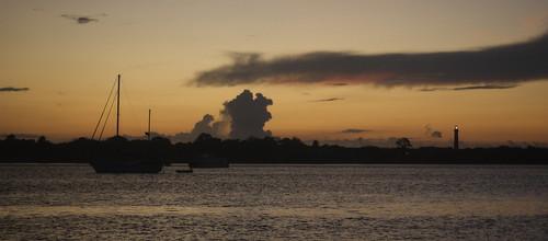 water sunrise boat florida staugustine saintaugustine