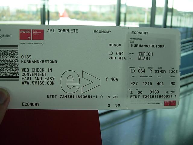 Air Ticket to Miami