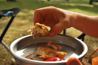 Crispy Chicken Fingers Made @ Camp   by goingslowly