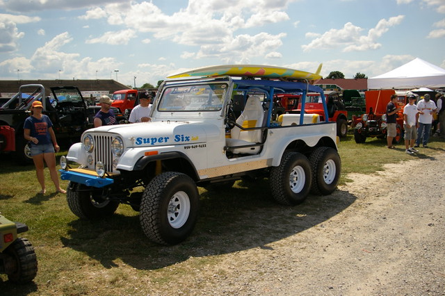 Super Six' Jeep CJ-7 6X6 | PA Jeeps 2009 York Jeep Show | Flickr