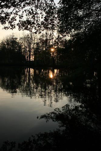 sunset lake reflection nature water silhouette canon germany geotagged deutschland see wasser europa europe sonnenuntergang natur explore lowkey farbe spiegelung niederrhein schwalmtal lowerrhine hariksee
