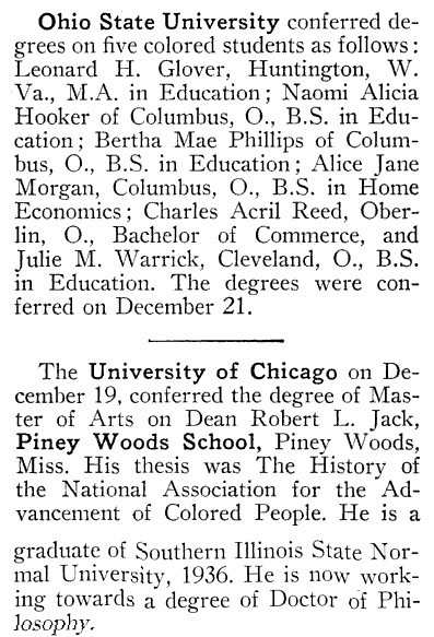 Latest Graduations - Crisis Magazine, February, 1940