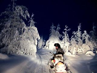 Snowmobiling to Russian Border | by RukaKuusamo.com