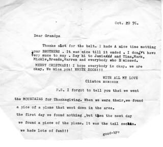 Letter to Grandpa 1976