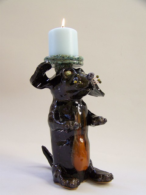 D Dachshund Candle Holder - Right View