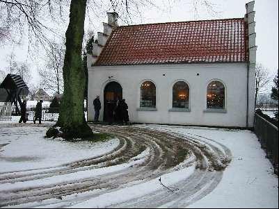 Ingelstrup Kapel set fra syd om vinteren | by Saedder Kirke