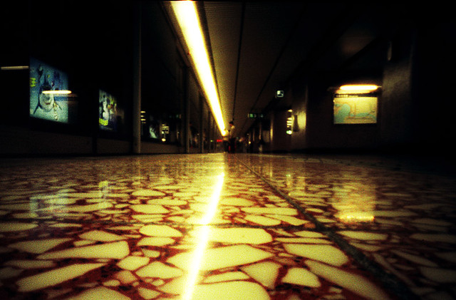 Hong Kong subway - pinhole photo