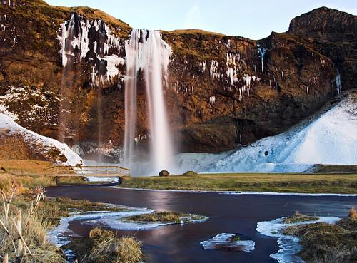 Waterfall Seljalandsfoss at dusk | by Arnar Valdimarsson