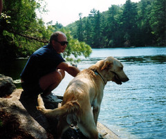 Dad and Dublin at the lake | by KJones1975