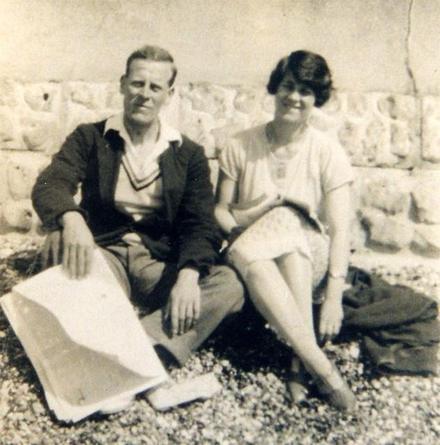 Gordon and Eva on the beach