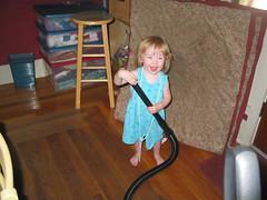 vacuuming is fun!