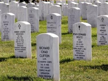 arlington gravestones