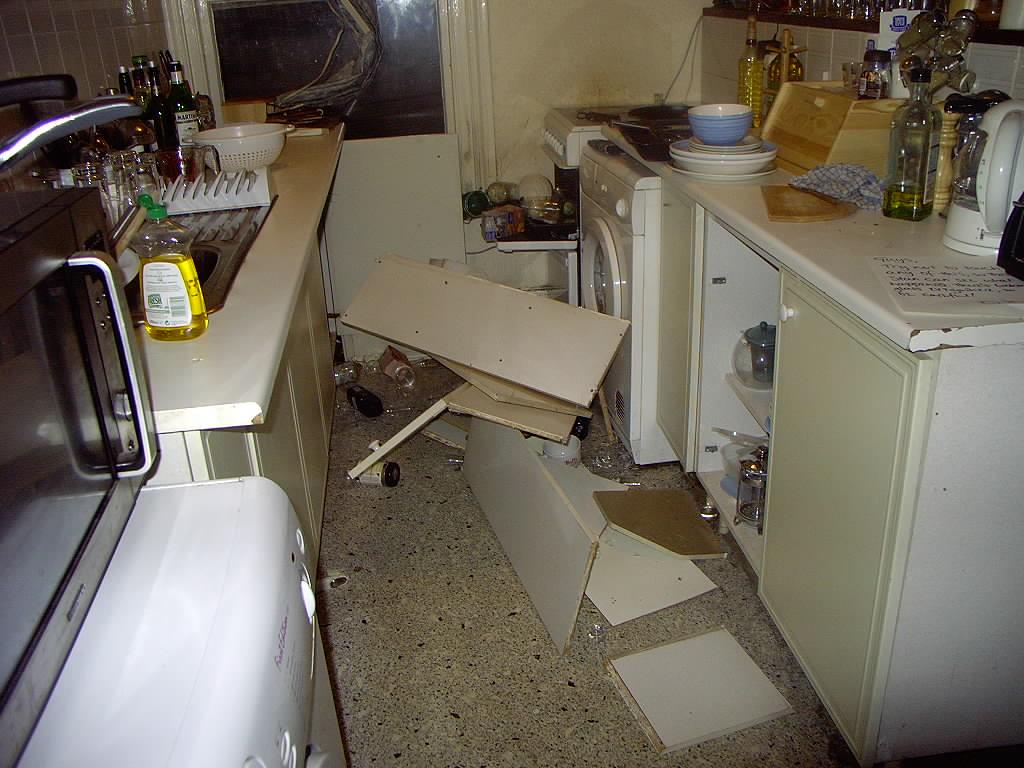 Broken kitchen