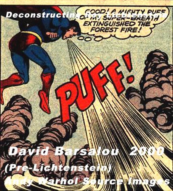 KURT SCHAFFENBERGER  SUPERMAN  DECONSTRUCTING ROY LICHTENSTEIN  © 2000  DAVID BARSALOU