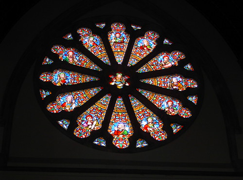 Stained glass at St Matthias