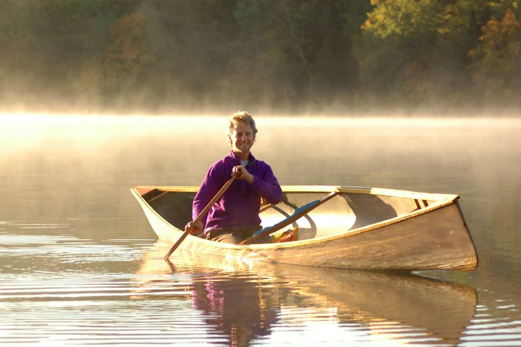 Flickrite Peter Bowers paddling at dawn