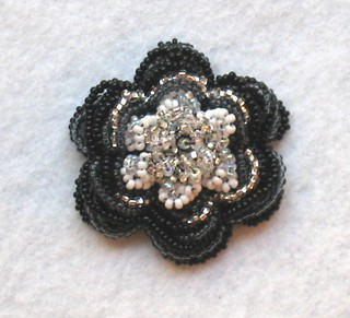 Black & white flower pin | by smilingturtle2