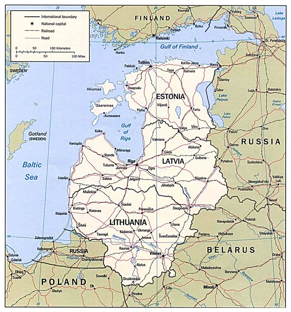 Map of the Baltic States | Jimmy Harris | Flickr