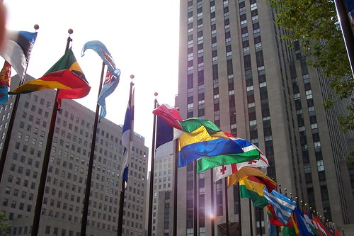Flags at Rockefeller Center | by tyger_lyllie