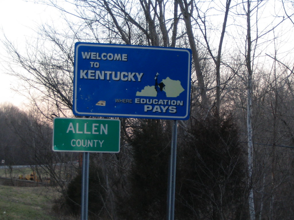 Welcome to Kentucky, U.S. Route 231 at Tennessee Border