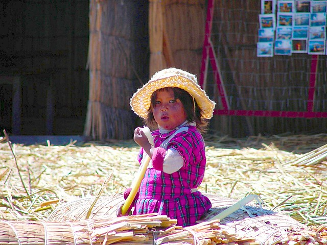 Peruvian Cutie on Lake Titicaca