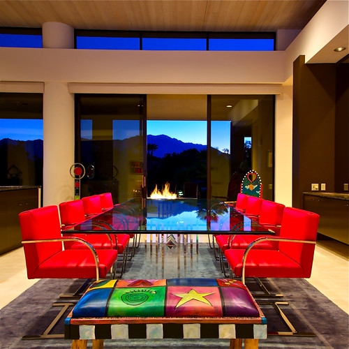 red architecture modern palmsprings diningroom canon50d sbc2assign3
