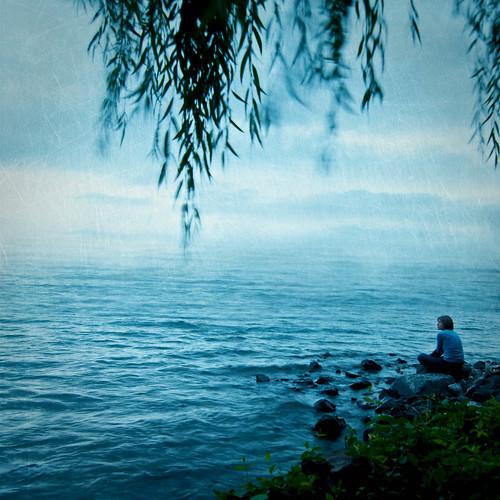 blue portrait water self september textures lakewashington sept28 mondayblues florabella