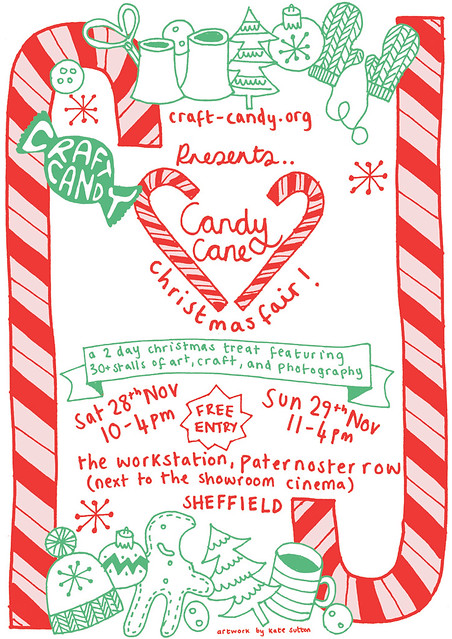Christmas Craft Show Flyer.Candy Cane Christmas Craft Fair Flyer Candy Cane Christmas