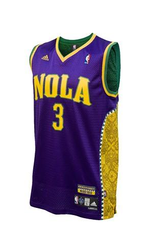 New Orleans Hornets Mardi Gras Jersey The Hornets New Mar