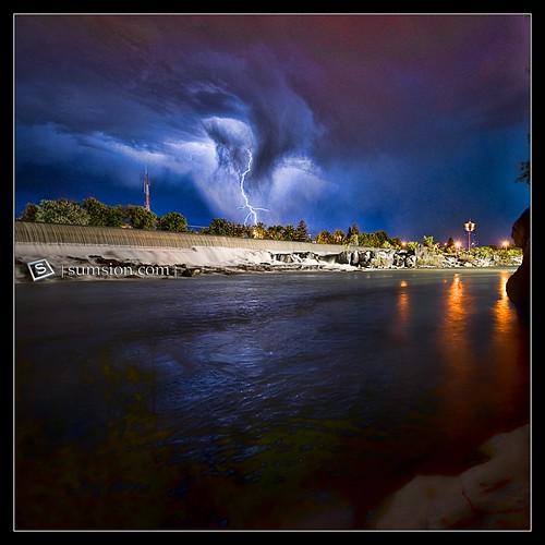 usa water clouds river landscape lights movement nikon action id july falls idaho lightning 2009 idahofalls sigma1020mm d90 sumsion nikond90 sumsioncom