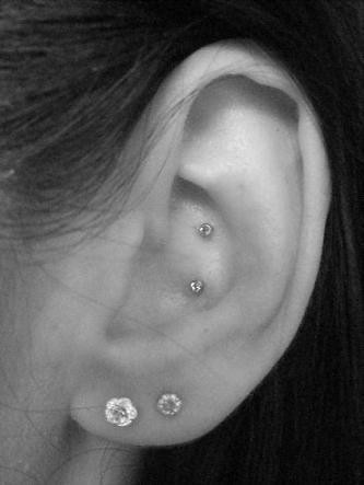 Double Conch Piercing Double Conch Piercing Done By Me F Flickr
