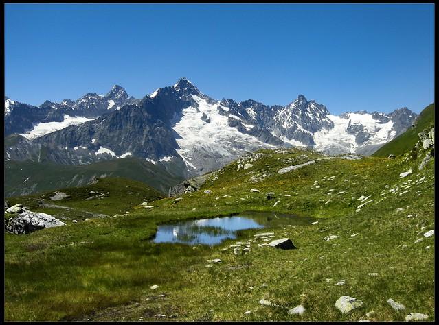 Lacs de Fenêtre .Val Ferret / Gd Saint Bernard passe Canton of Valais , Switzerland. No. 5688  July 24,2008 .