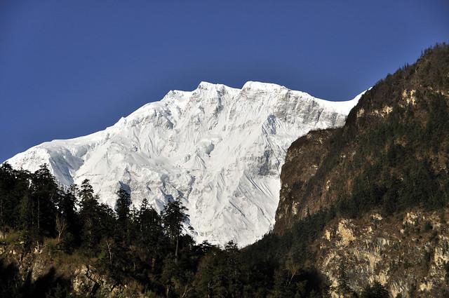 Lamjung Himal above Chame