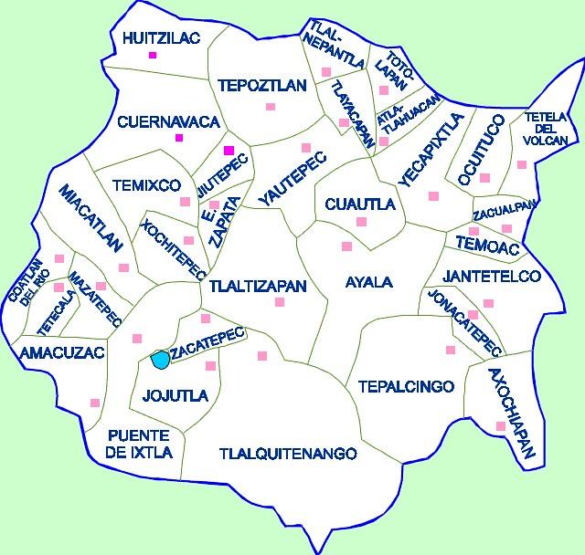 Mapa Estado De Morelos Mexico Alfredo Ramirez Ceron Flickr