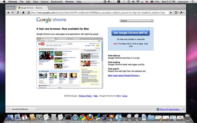 Google Chrome for Mac OS X Dec  09, 2009 | A fast new browse… | Flickr