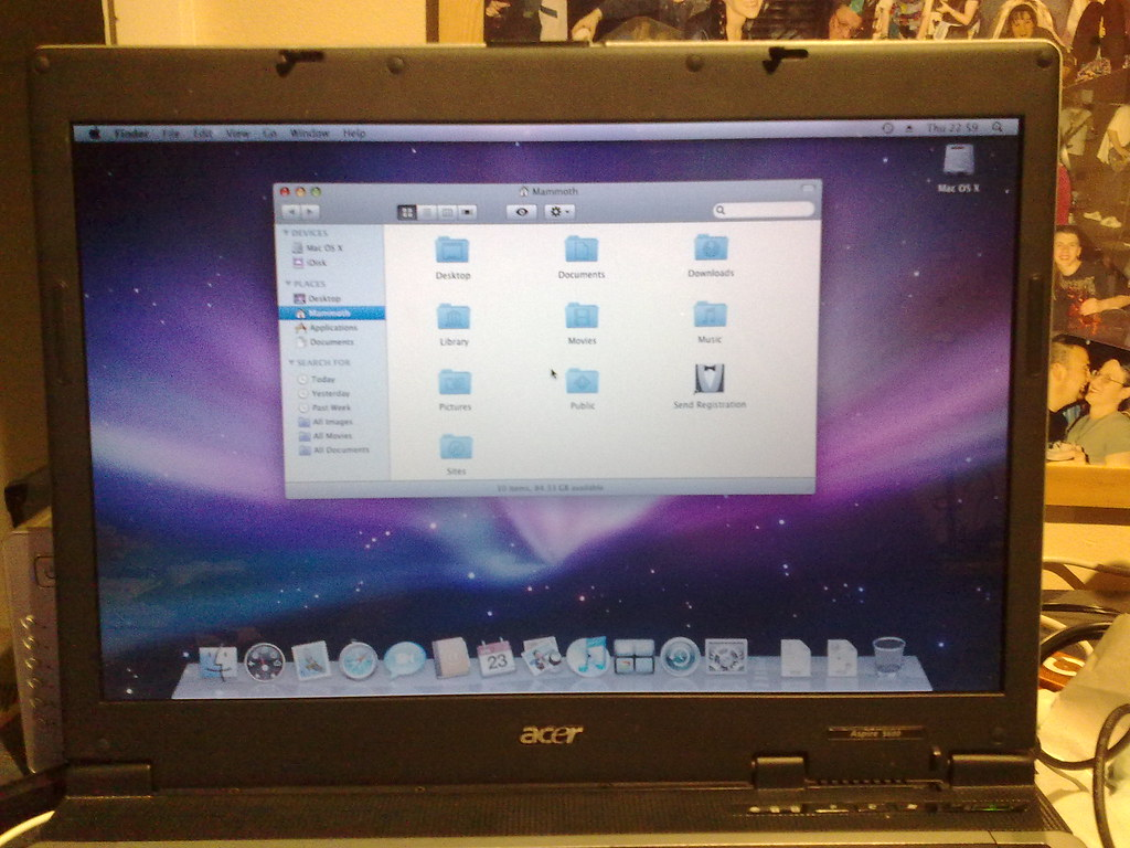 Acer Laptop Hackintosh 8 | There you go  Mac OS X running on