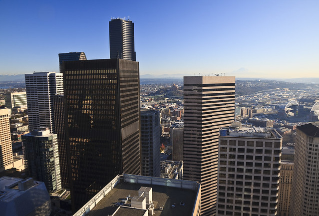 Downtown Seattle view from Washington Mutual Tower