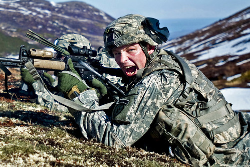 Yelling commands | by The U.S. Army