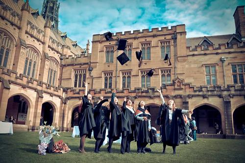 Graduation Hat Throw - so cliche