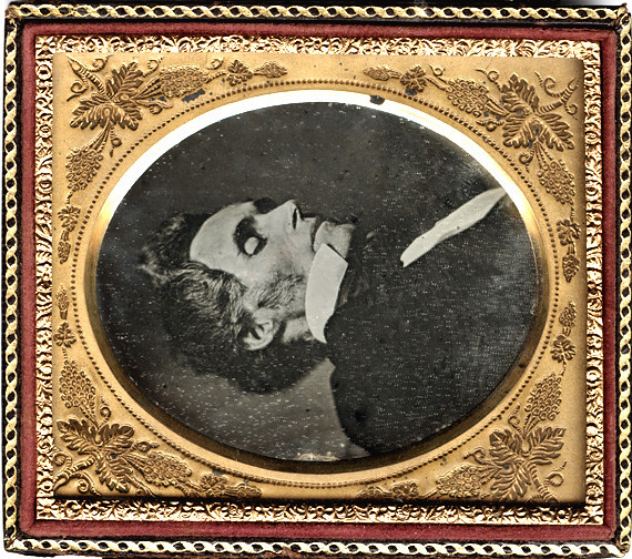 Post Mortem Daguerreotype - Gaunt Man * change in image